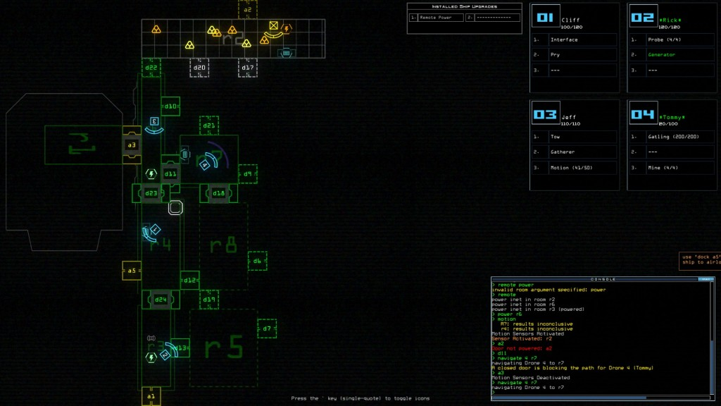 Duskers Ship Layout